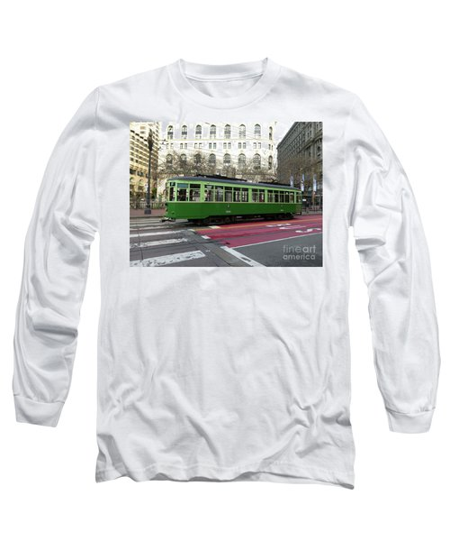 Long Sleeve T-Shirt featuring the photograph Green Trolley by Steven Spak