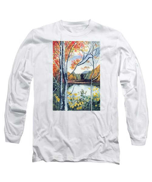 Long Sleeve T-Shirt featuring the painting Greenbriar River, Wv 2 by Katherine Miller