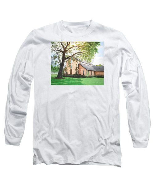Long Sleeve T-Shirt featuring the painting Greenwood by Mike Ivey