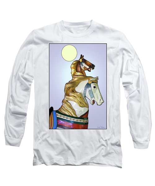 Long Sleeve T-Shirt featuring the digital art Greeting The Moon by Lise Winne