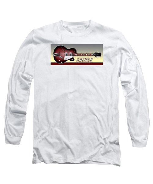 Gretsch Guitar Long Sleeve T-Shirt by Anthony Citro