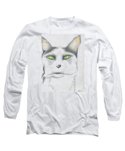 Long Sleeve T-Shirt featuring the drawing Gretta by Kim Sy Ok