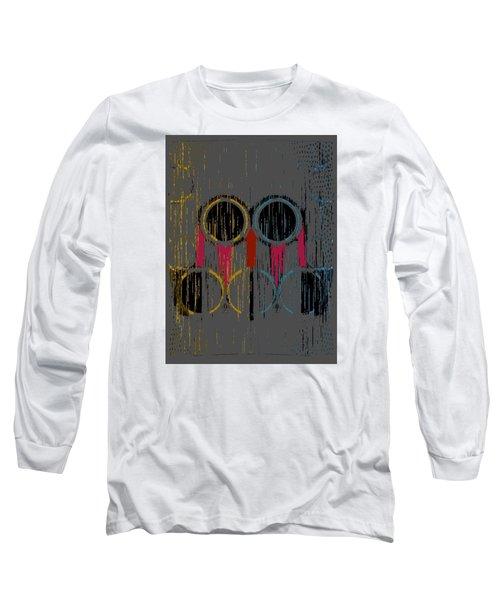 Grey Rings Long Sleeve T-Shirt
