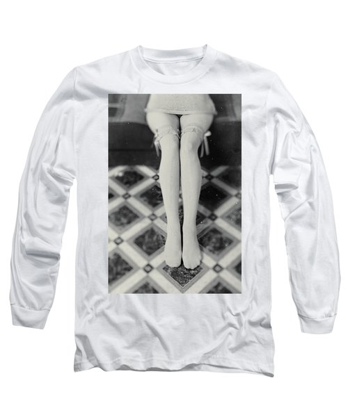 Grey Stockings #6477 Long Sleeve T-Shirt
