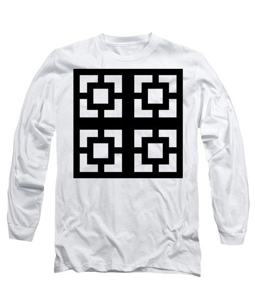 Grid 1 Transparent  Long Sleeve T-Shirt