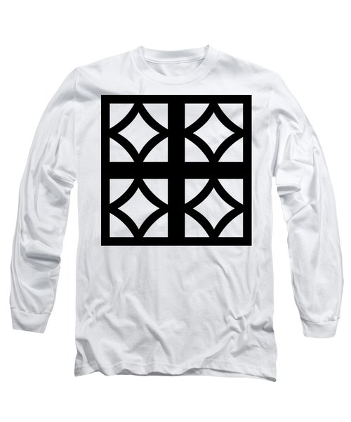 Grid 2 Transparent Long Sleeve T-Shirt
