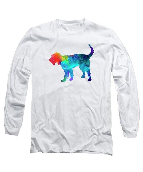 Griffon Nivernais In Watercolor Long Sleeve T-Shirt by Pablo Romero