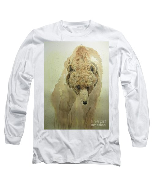 Grizzly Bear1 Long Sleeve T-Shirt by Laurianna Taylor