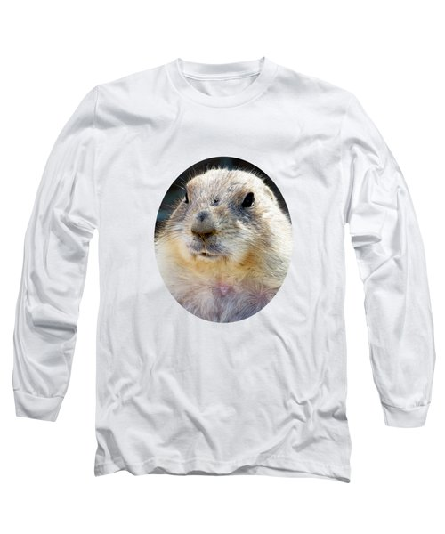 Ground Squirrel Portrait Long Sleeve T-Shirt by Laurel Powell