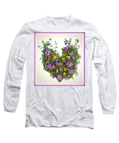 Long Sleeve T-Shirt featuring the digital art Growing Heart by Lise Winne