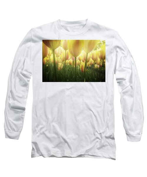 Growing  Tulips  Long Sleeve T-Shirt by Anastasy Yarmolovich