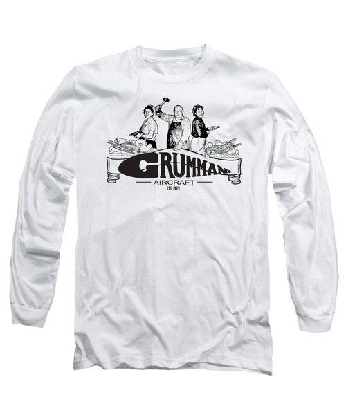 Grumman Aircraft Est 1929 Long Sleeve T-Shirt