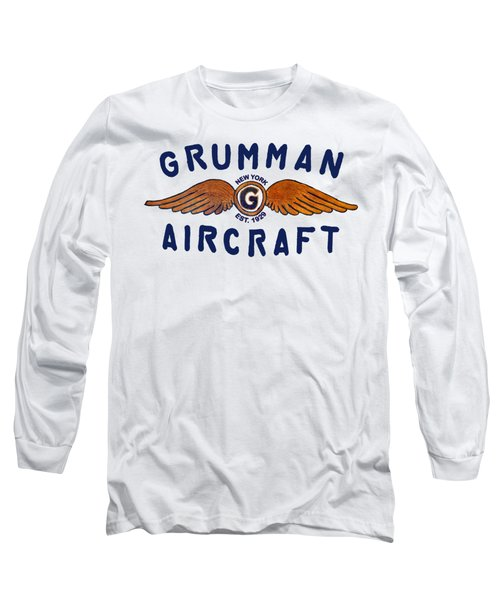 Grumman Wings Blue Long Sleeve T-Shirt