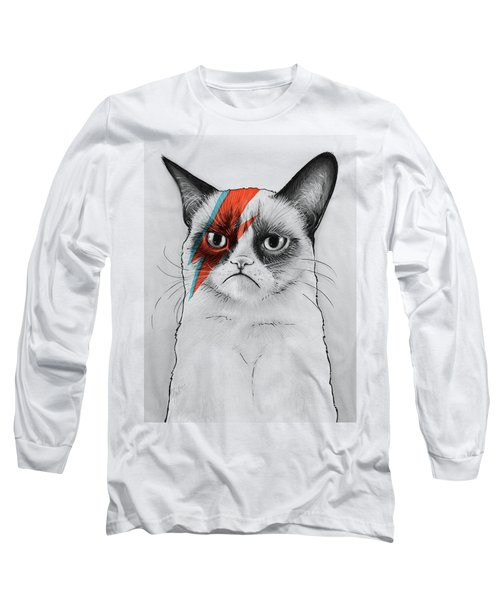 Grumpy Cat Portrait Long Sleeve T-Shirt
