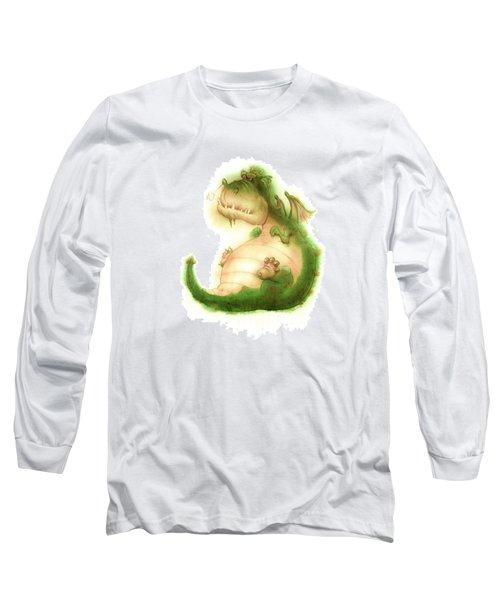 Grumpy Dragon Long Sleeve T-Shirt by Andy Catling