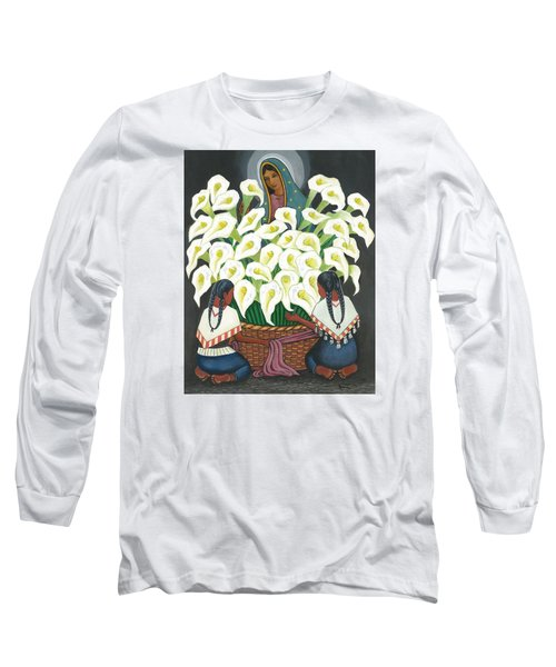 Guadalupe Visits Diego Rivera Long Sleeve T-Shirt