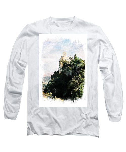 Long Sleeve T-Shirt featuring the photograph Guaita Castle Fortress by Joseph Hendrix