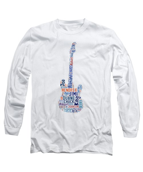 Long Sleeve T-Shirt featuring the digital art Guitar Legends by Bill Cannon