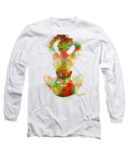 Guitar Siren Long Sleeve T-Shirt by Nikki Smith