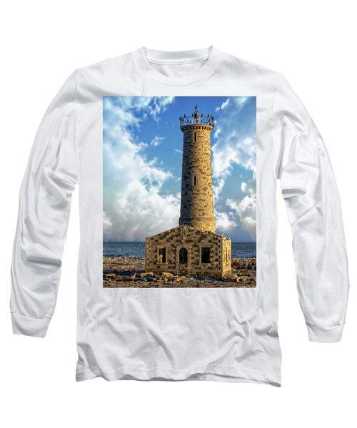 Gull Island Lighthouse Long Sleeve T-Shirt