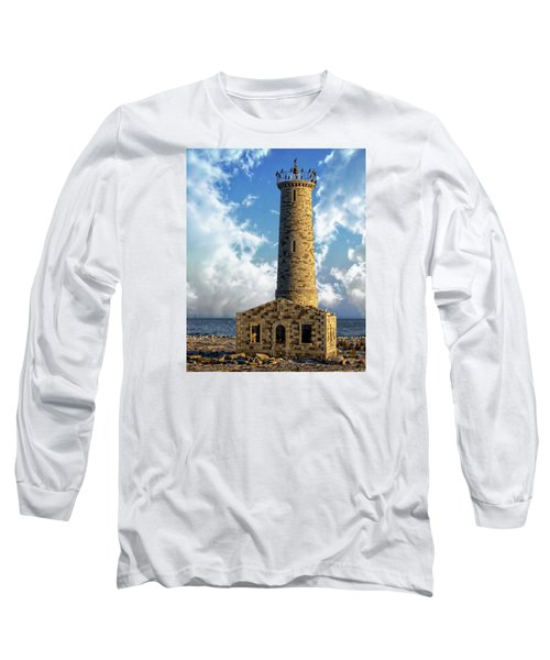 Gull Island Lighthouse Long Sleeve T-Shirt