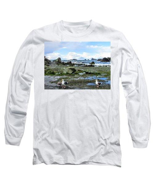 Gulls Long Sleeve T-Shirt by Marilyn Diaz