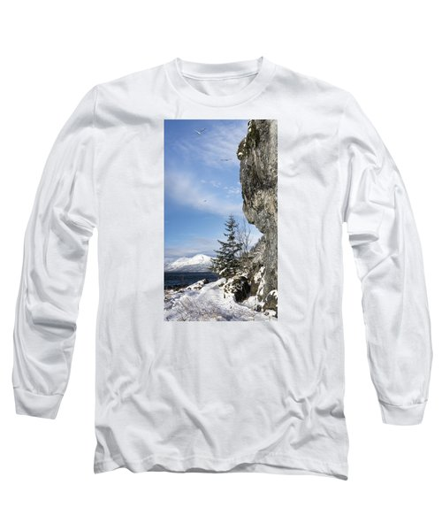 Long Sleeve T-Shirt featuring the photograph Gulls Of Winter by Michele Cornelius