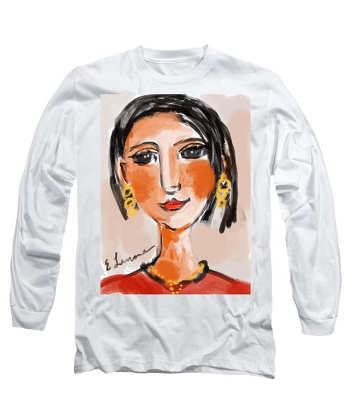 Long Sleeve T-Shirt featuring the digital art Gypsy Lady by Elaine Lanoue