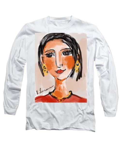 Gypsy Lady Long Sleeve T-Shirt by Elaine Lanoue