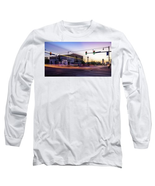 Hackberry And Commerce Long Sleeve T-Shirt by Micah Goff