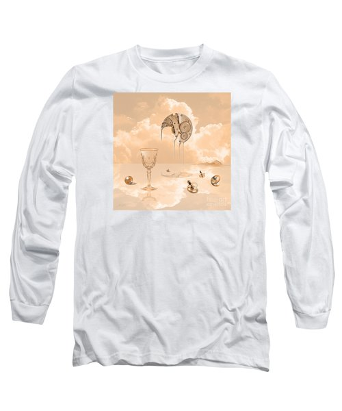 Long Sleeve T-Shirt featuring the digital art Beyond Time by Alexa Szlavics