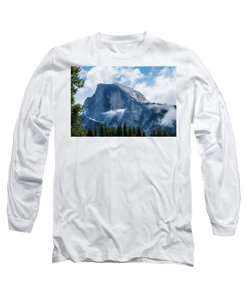 Half Dome In The Clouds Long Sleeve T-Shirt