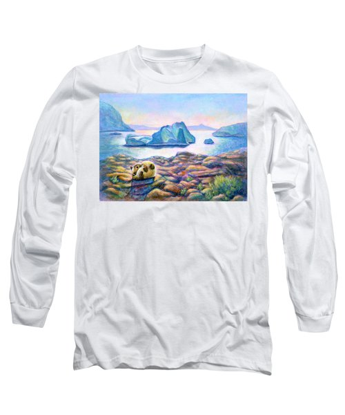Half Hidden Long Sleeve T-Shirt by Retta Stephenson