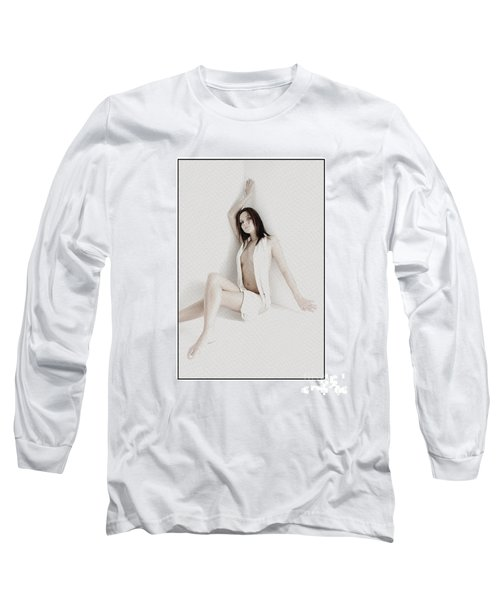Half Naked Woman Is Studio Long Sleeve T-Shirt by Michael Edwards