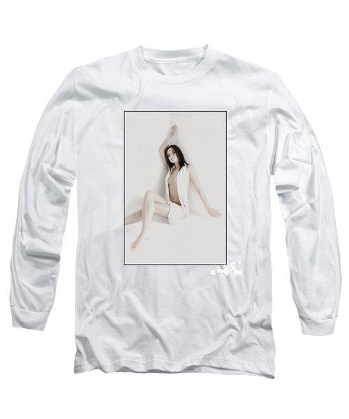 Half Naked Woman Is Studio Long Sleeve T-Shirt