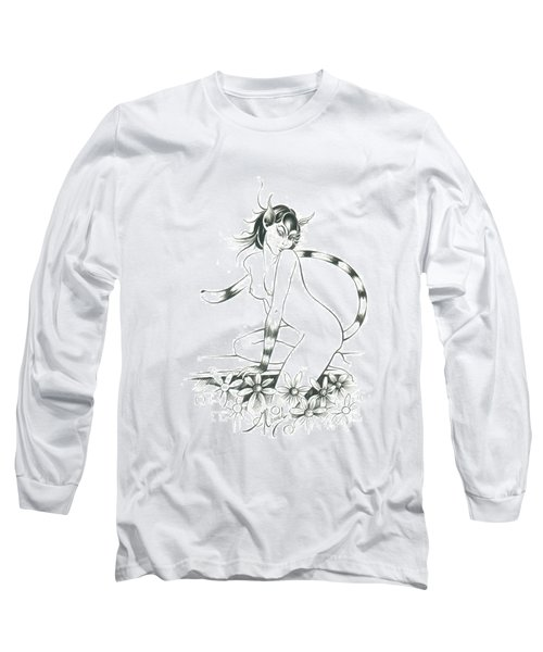 Half Wild Cat Long Sleeve T-Shirt