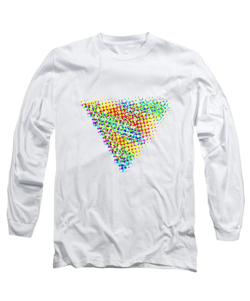 Halftone Triangle  Long Sleeve T-Shirt
