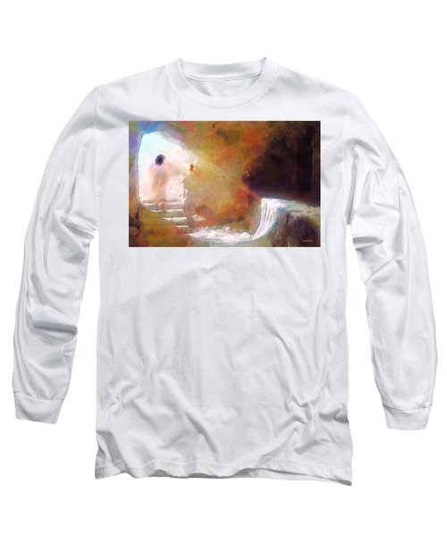 Hallelujah, He Is Risen Long Sleeve T-Shirt by Wayne Pascall
