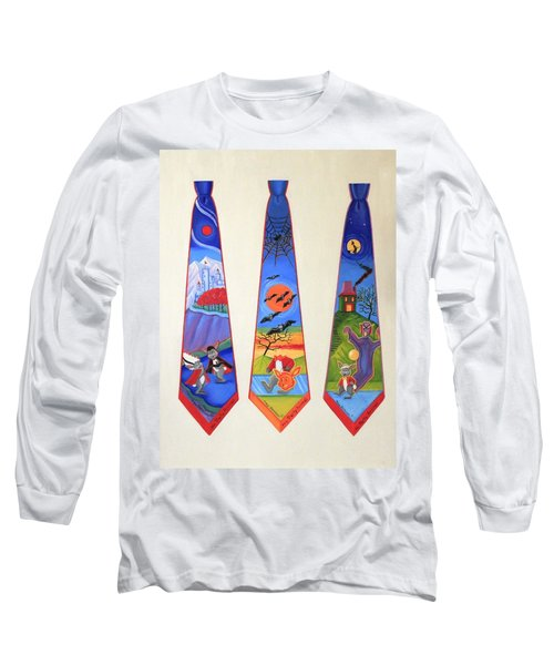 Halloween Ties Long Sleeve T-Shirt by Tracy Dennison