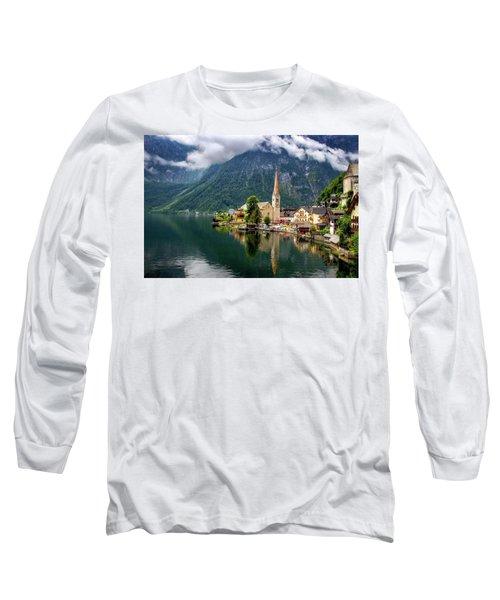 Hallstatt Across The Lake, Austria  Long Sleeve T-Shirt