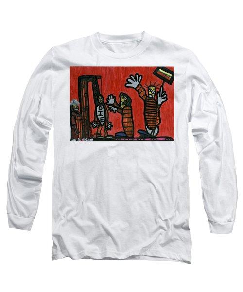 Halt The Execution Long Sleeve T-Shirt by Darrell Black