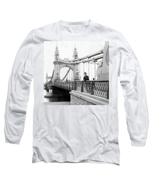 Hammersmith Bridge In London - England - C 1896 Long Sleeve T-Shirt by International  Images