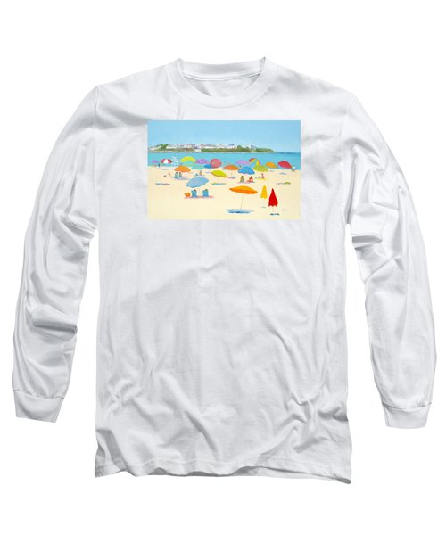 Hampton Beach Umbrellas Long Sleeve T-Shirt