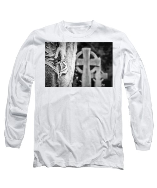 Hand And Cross Long Sleeve T-Shirt by Sonny Marcyan