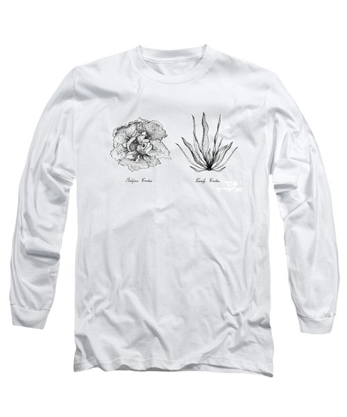 Hand Drawn Of Curly Endive And Belgian Endive Long Sleeve T-Shirt