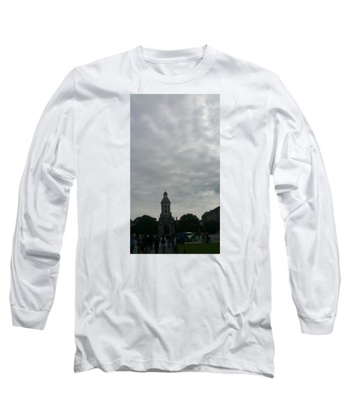 Hand Pressing The Sky Long Sleeve T-Shirt by Zachary Lowery
