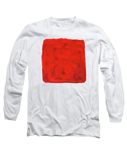 Handmade Vibrant Abstract Oil Painting Long Sleeve T-Shirt by GoodMood Art