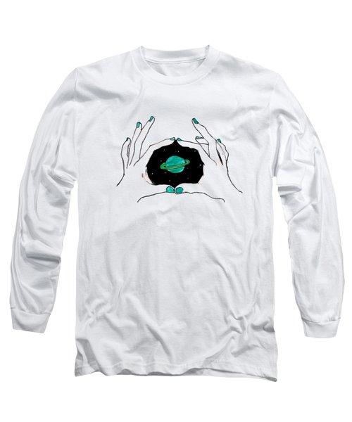 Hands Around Saturn Long Sleeve T-Shirt