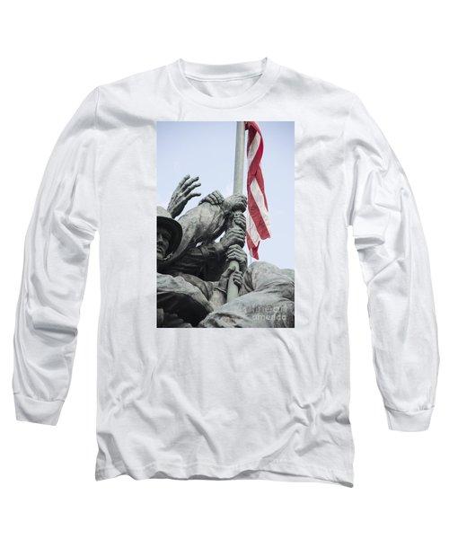 Hands Of Suribachi Long Sleeve T-Shirt by David Bearden