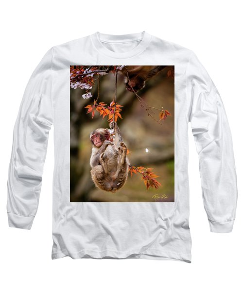 Long Sleeve T-Shirt featuring the photograph Hang In There, Baby Redux by Rikk Flohr